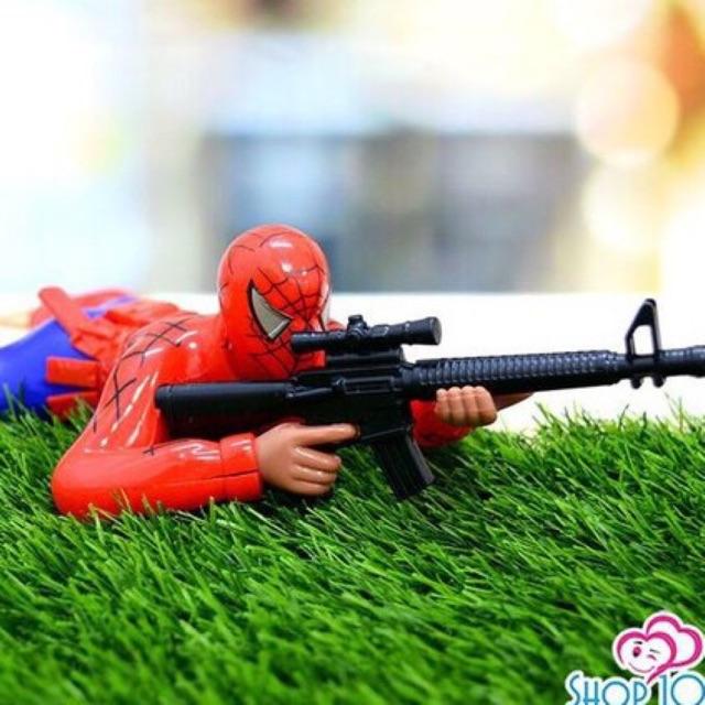 Đồ chơi người nhện bò bắn súng