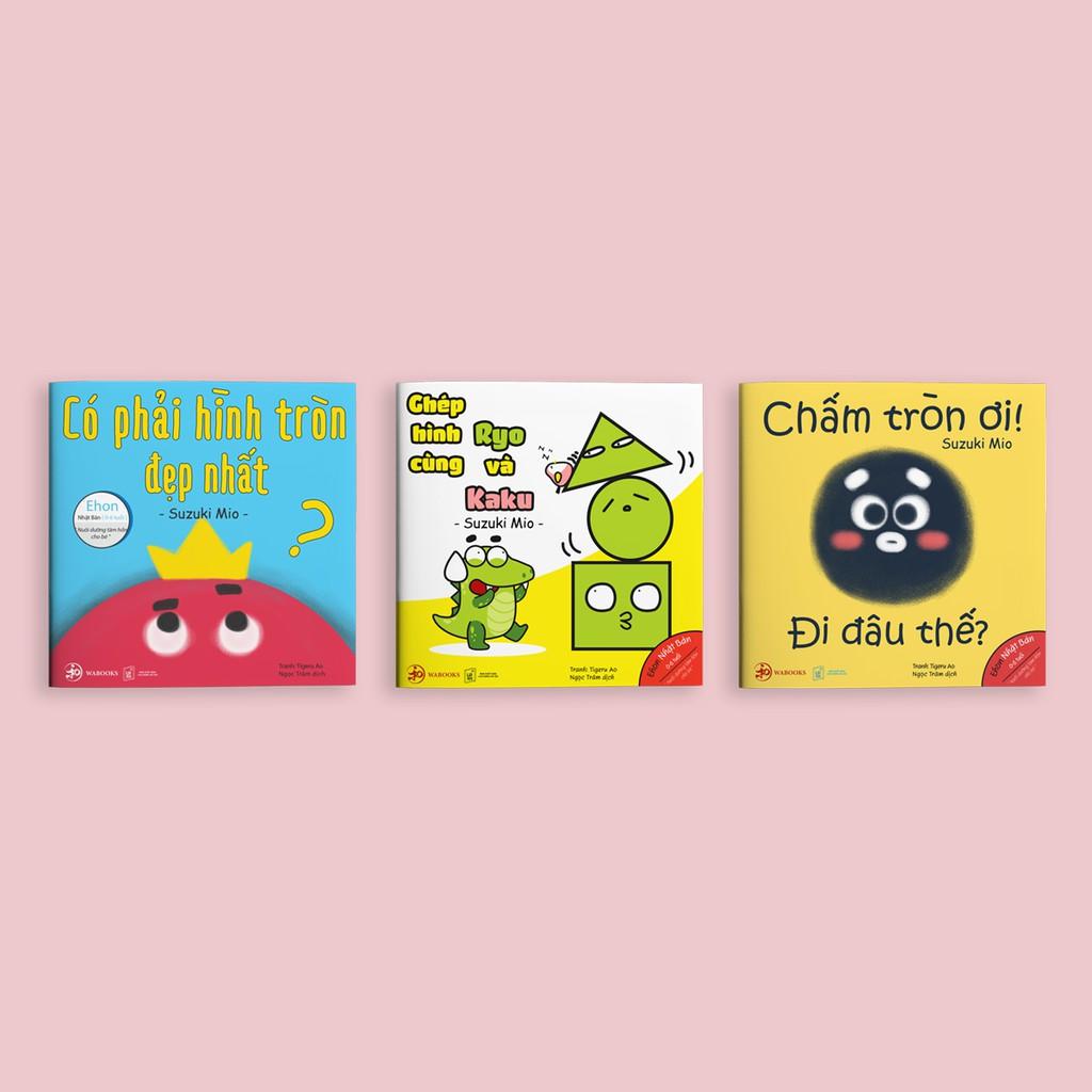 Sách - Combo Ehon Điều Kỳ Diệu Từ Những Hình Khối - Bộ 3 Cuốn (Ehon Nhật Bản 0-6 tuổi)