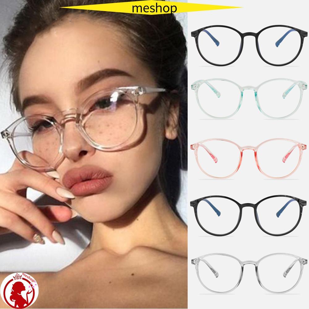 🍒ME🍒 Unisex Vintage Eyeglasses Reduces Eye Strain Anti-Blue Rays Optical Eye Glasses Transparent Round Frame High-definition Ultralight Cool Clear Lens...