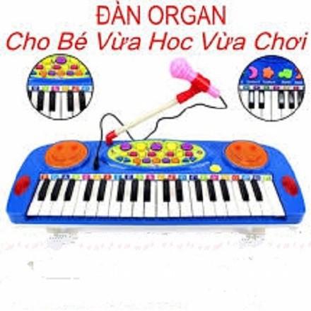 Đồ chơi đàn organ, đồ chơi đàn có mic hát (KÈM PIN)