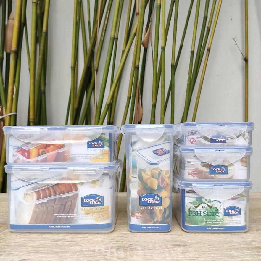 Bộ 6 hộp nhựa bảo quản thực phẩm Lock&Lock Classic kín hơi và an toàn thực phẩm [HPL818]