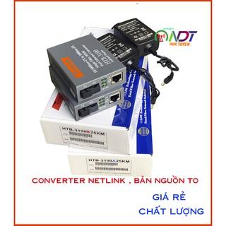 🔝 🇻🇳 Bộ Converter Netlink 1 sợi HTB-3100AB 10-100mb Chuyển đổi quang điện