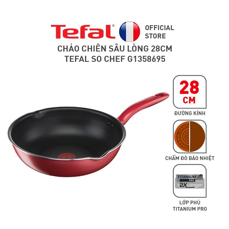 Chảo chiên sâu lòng 28cm Tefal So Chef G1358695