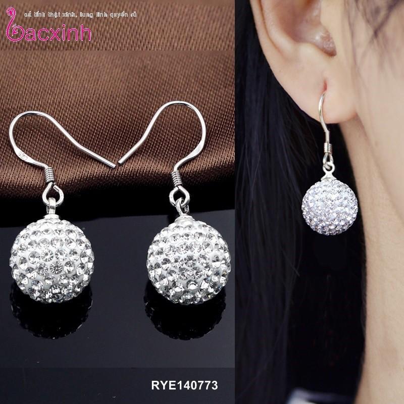 Bông tai nữ trang sức bạc Ý S925 Bạc Xinh - Pha lê RYE140773