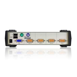 Bộ chuyển đổi 4 cổng PS 2- USB VGA KVM Switch - Aten CS84U thumbnail