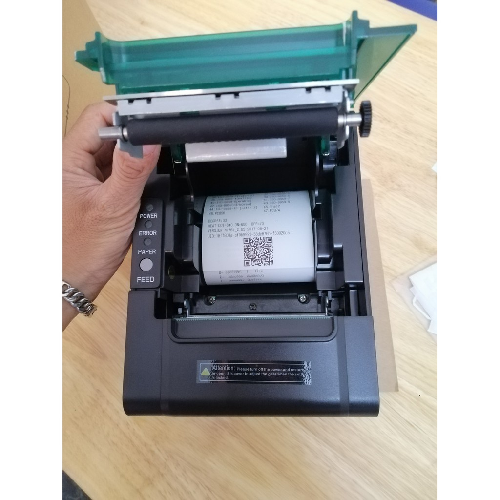 Máy in bill, hoá đơn nhiệt, bar bếp khổ K80 chuyên dụng PRP-085 USB/LAN