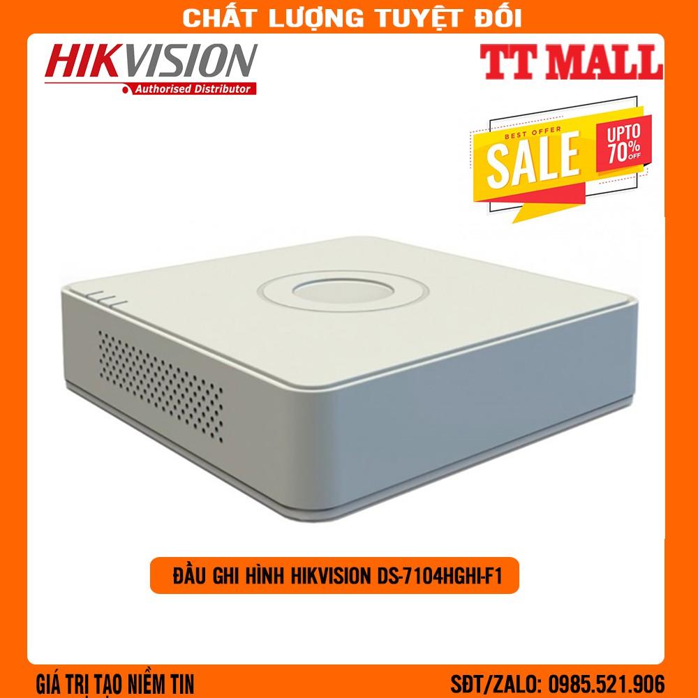 Đầu ghi hình TURBO HD 3.0 4 kênh Hikvision DS-7104HGHI-F1 - Chính Hãng Hikvision