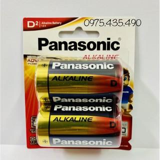 Vỉ 2 Viên Pin Đại Alkaline Panasonic LR20T/2B Made in Japan