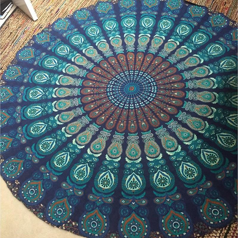 Thảm hình tròn tập yoga vải mỏng