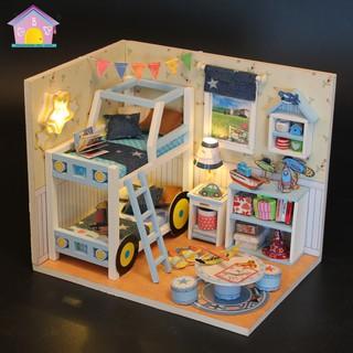 Mô hình nhà gỗ DIY HOUSE ghép phát triển trí tuệ cho bé thông minh