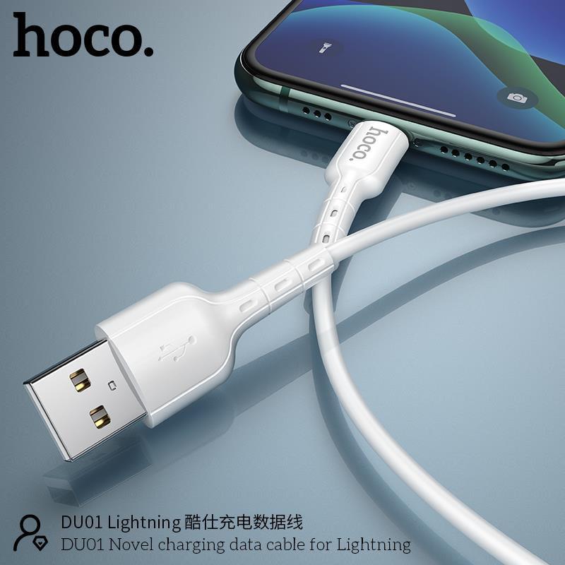 Cáp sạc và truyền dữ liệu Hoco DU01 USB to Micro/Lightning/Type-C sạc nhanh 2.4A/3A dài 100cm