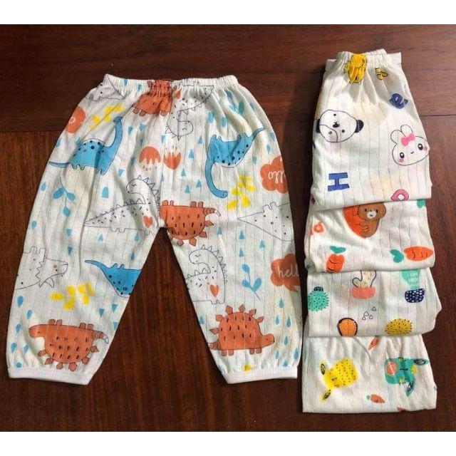 Quần áo trẻ em-Quần chục cotton giấy (quần dài) cho bé trai/gái size 3