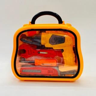 Đồ chơi vali dụng cụ kềm búa máy khoan dùng pin 14 món 36778-129