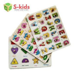 [Mã TOYDEC giảm 10% tối đa 15K đơn từ 50K] Đồ chơi trẻ em thông minh – Combo 3 bảng ghép hình núm gỗ.