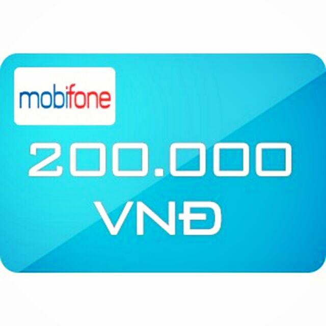 Nạp tiền Mobifone 200k siêu rẻ