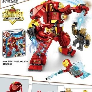 (Có Sẵn)Lego Biệt Đội Siêu Anh Hùng Người Sắt 356+pcs – IRON MAN HULKBUSTER MK44
