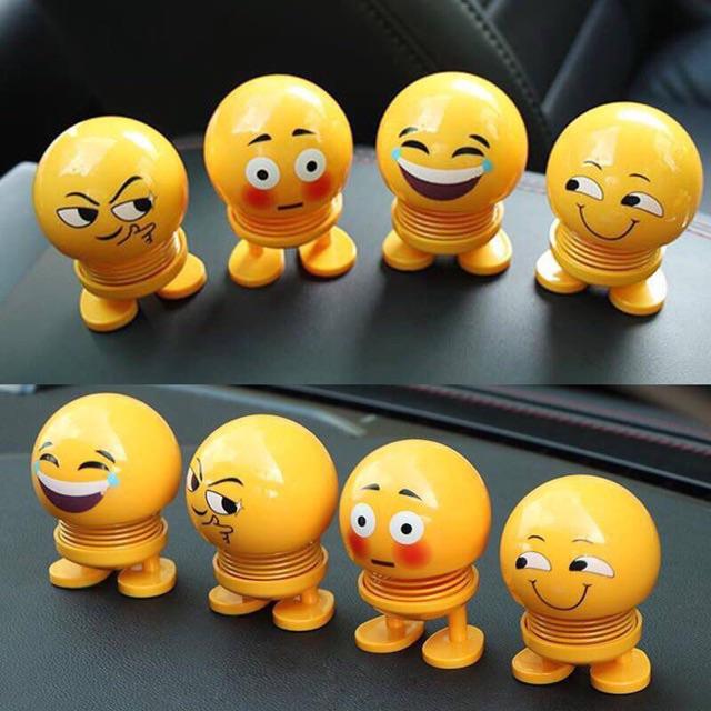 [COMBO 8 THÚ NHÚN EMOJI] Thú Nhún Emoji Lò Xo Biểu Tượng Cảm Xúc Giảm Stress