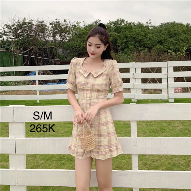 [ORDER] Đầm sọc caro