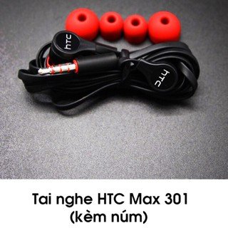 [Mã ELFLASH5 giảm 20K đơn 50K] Tai nghe HTC 301 Max bass ấm, nghe hay , giá tốt đảm bảo nghe là thích