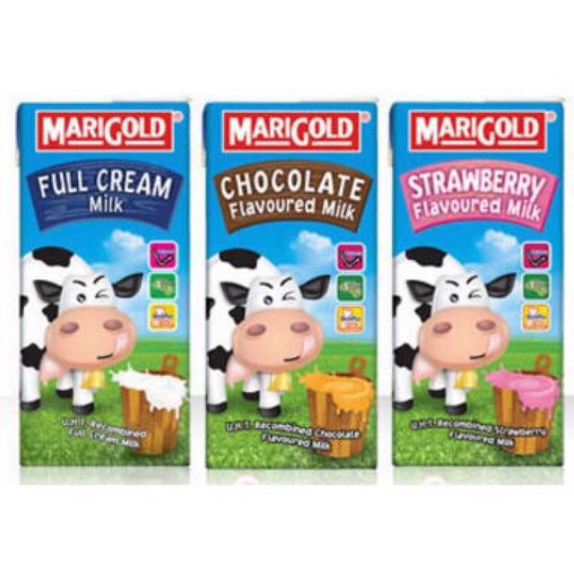 Lốc 3 hộp sữa tươi cho bé MARIGOLD 200ml