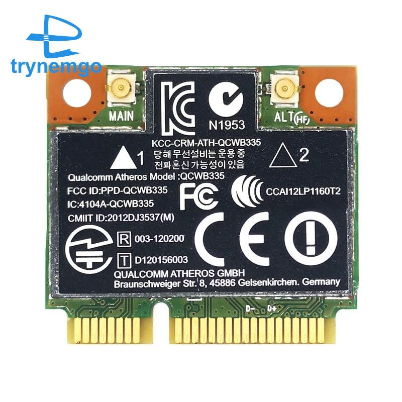 Card Wifi Ar9565 Qcwb335 Mini Pcie Bluetooth 4.0 Cho Xp Win7 / 8 Linux