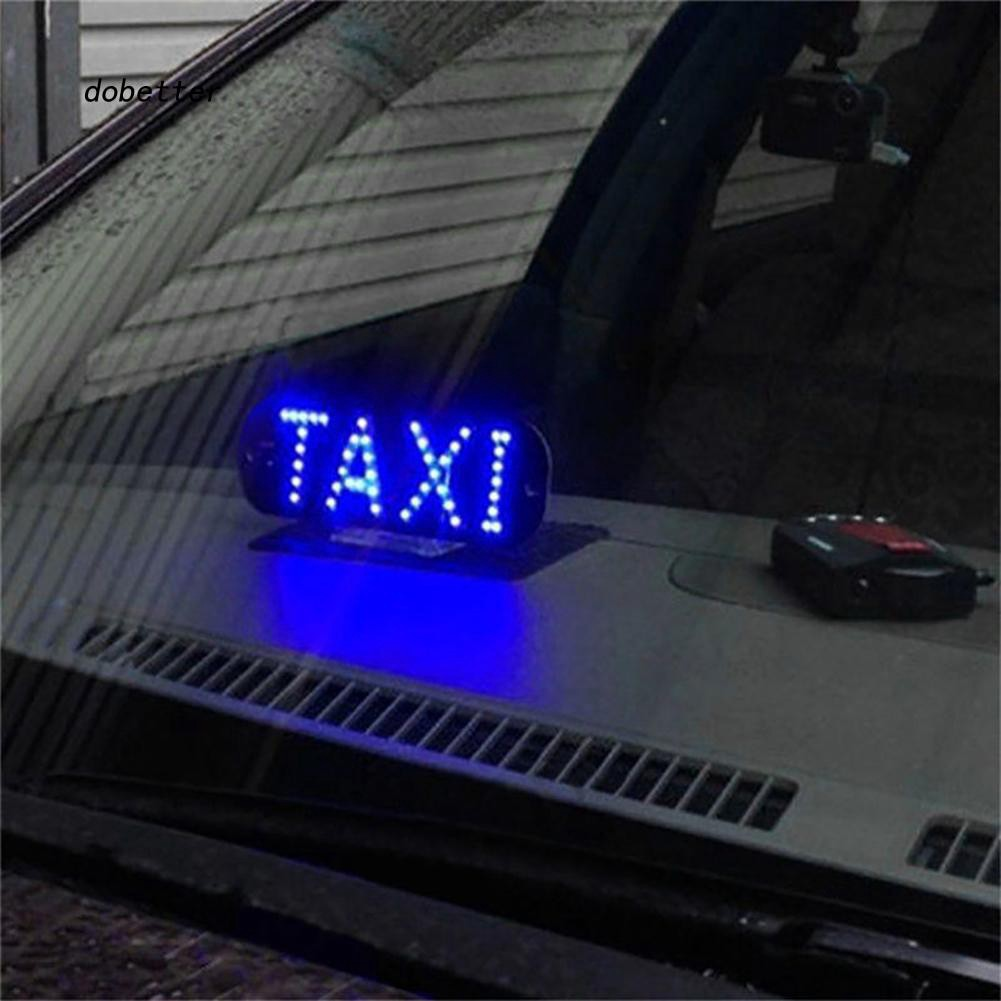 DOBT_Taxi Cab Windscreen Windshield Sign LED Light Car High Brightness Lamp Bulb