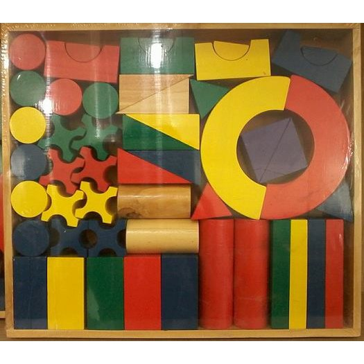 Bộ xếp hình 51 chi tiết bằng gỗ cho bé