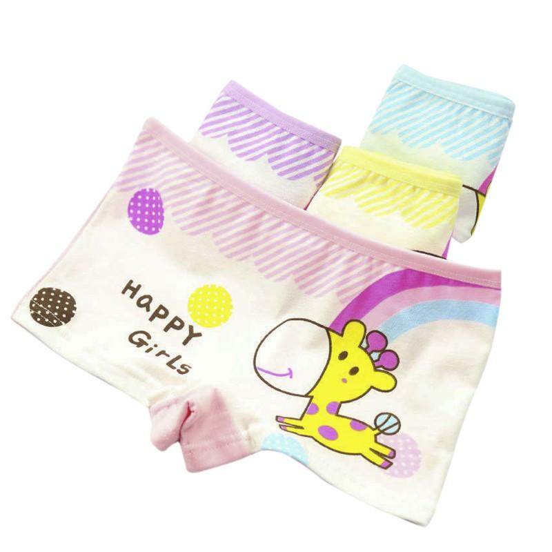 INN✿ Child Baby Girls Cotton Boxer Briefs Kids Underwear Panties