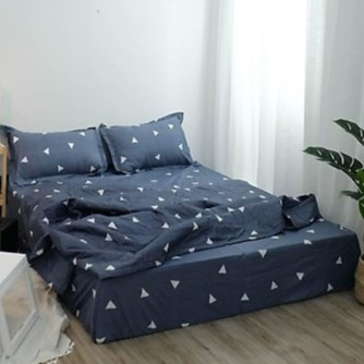 Bộ chăn hè  chần bông ga gối cotton poly K'home nhiều màu đủ size giường nệm