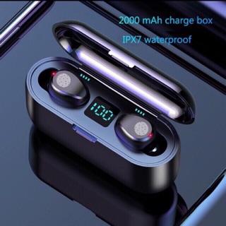 [Mã ELFLASH5 giảm 20K đơn 50K] Tai nghe AMOI F9 Bluetooth 5.0 Pin trâu 2000mah làm sạc dự phòng tai nghe không dây 2019