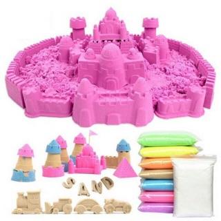 Bịch 12 túi cát động lực nhiều màu kèm dụng cụ cho bé