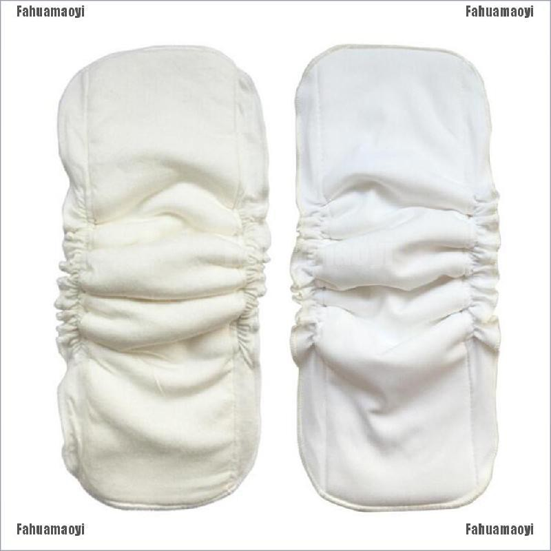 fahuamaoyi.th 5 Layers Natural bamboo cotton waterproof diaper insert Reusable baby nappies