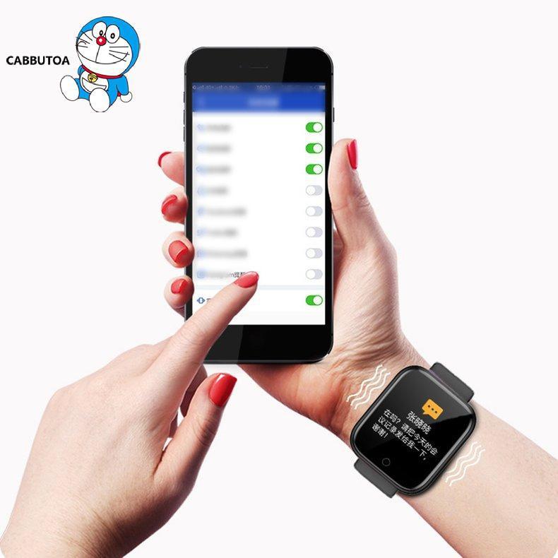 Đồng Hồ Đeo Tay Thông Minh Y68 Chống Nước Hỗ Trợ Theo Dõi Tập Thể Dục Cho Ios Android