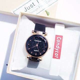 ( Giá Sỉ ) Đồng hồ thời trang nữ candycat mặt chấm mẫu mới SCSe4989