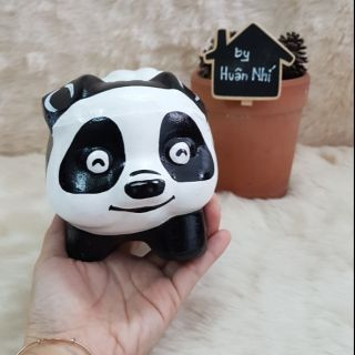 Heo đất handmade – Panda