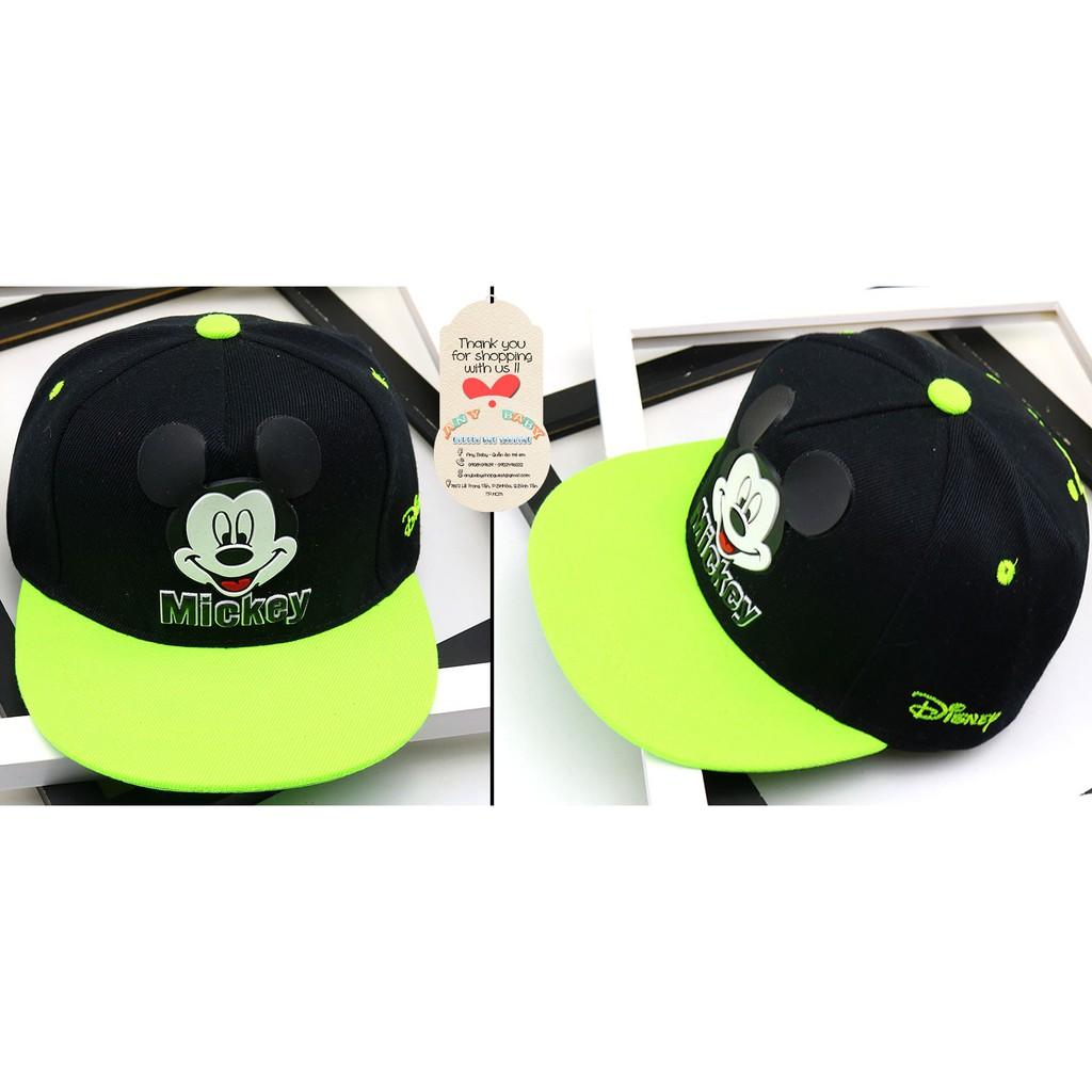 Nón Snapback-Hiphop trẻ em hình Mickey cho bé trai và bé gái