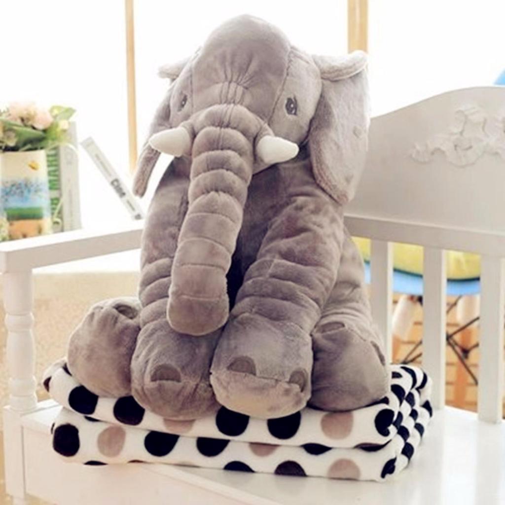 ของเล่นเด็ก smartbabyandkid ตุ๊กตาช้าง Jelly Elephant ขนาด 60 cm.(สีเทา)ีผ้าห่มองเล่นเด็ก smartbabyandkid ตุ๊กตาช้าง Jel