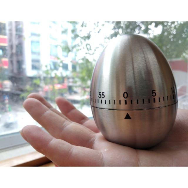 Đồng hồ pomodoro inox (hình quả trứng)
