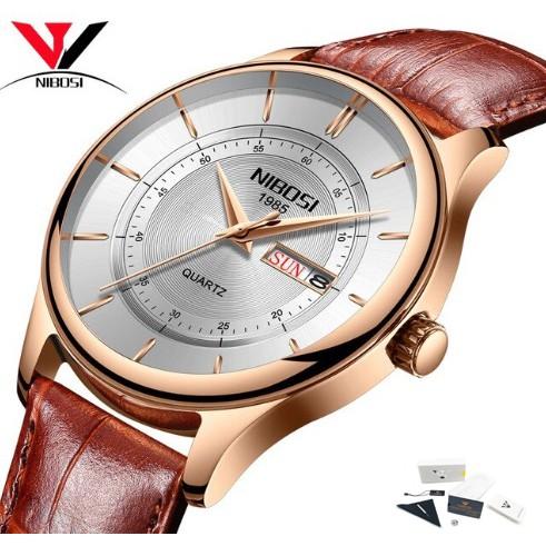 Đồng hồ nam dây da phiên bản quốc tế Nibosi 2312 (fullbox)