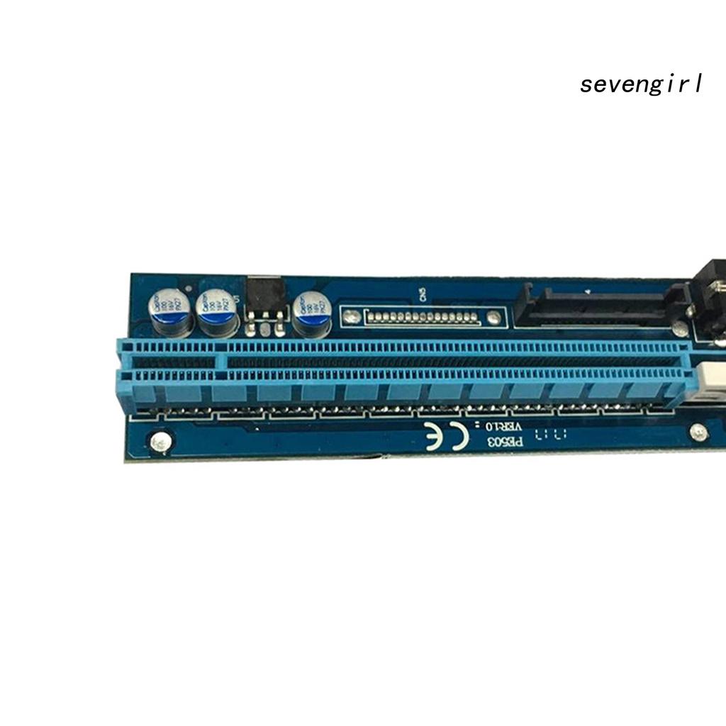 Cáp Chuyển Đổi Sev-Pe503 6pin / 4pin Sata 1x Sang 16x