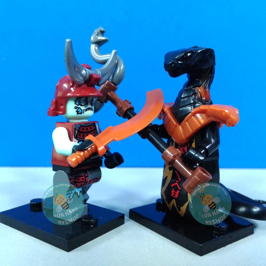 Non Lego 8 Nhân vật Chiến Binh Băng Giá (Blizzard Warriors) trong NinjaGo  Season 11 - GA-123-130