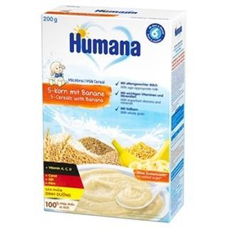 Bột dinh dưỡng ăn dặm Humana có sữa 5 loại ngũ cốc-chuối - Hộp 200gr