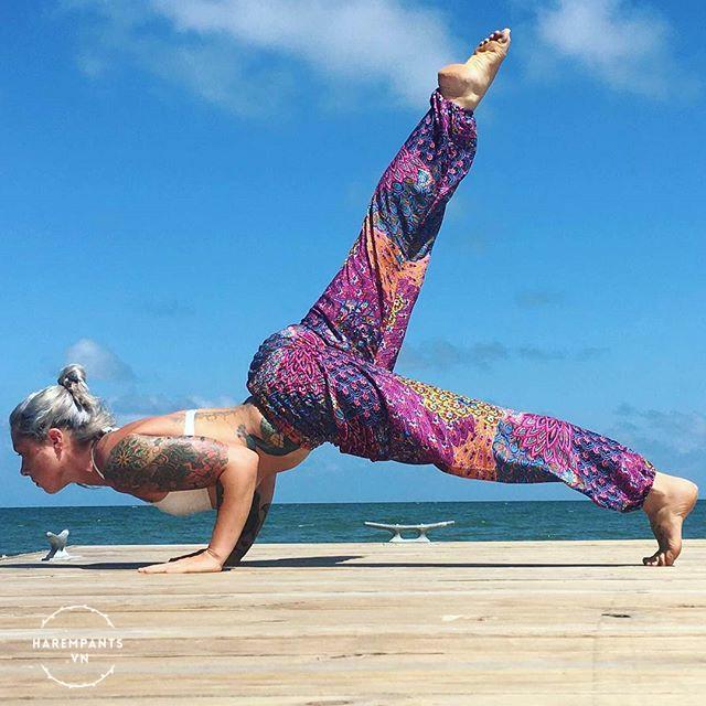 Quần tập Yoga Harem Pants Light Purple Pineapple Peacock (tím sáng)