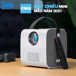 [ PHÂN GIẢI THỰC 720P] Máy chiếu Mini Aun HD C900 - máy chiếu gia đình có quai xách