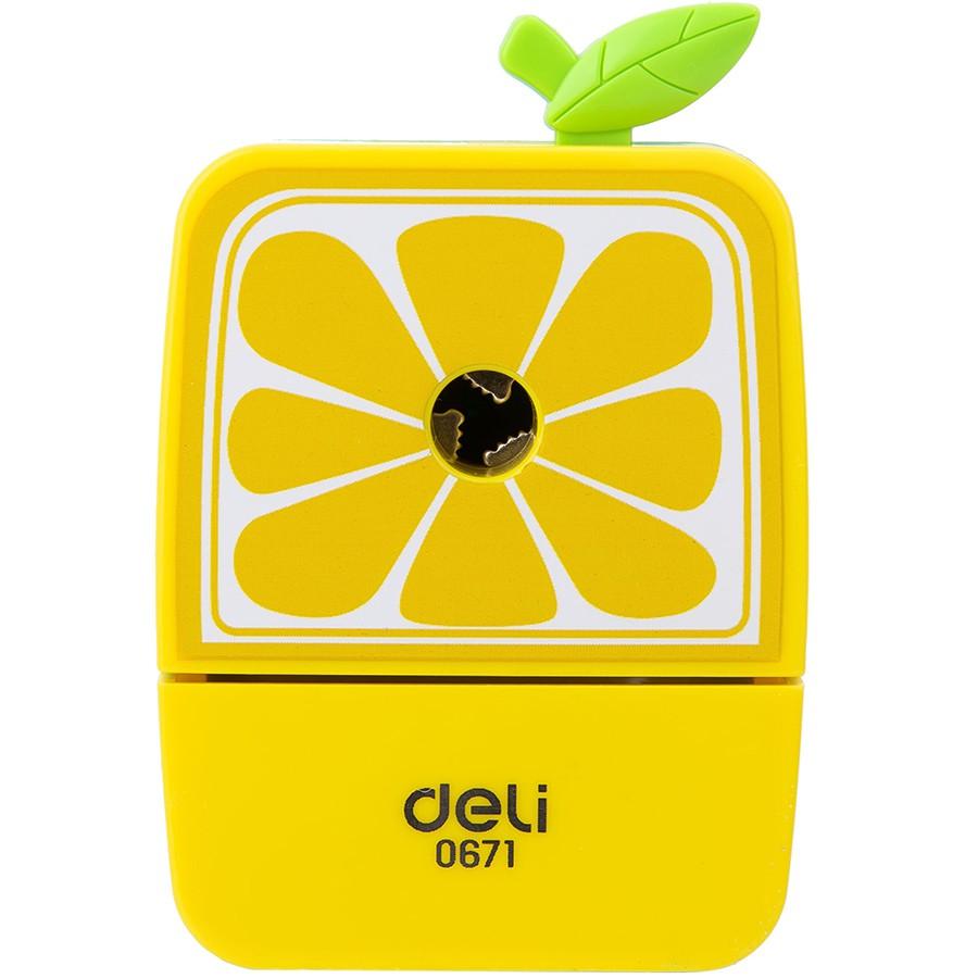 Gọt chì quay tay hoa quả vuông E0671 ( lấy màu ngẫu nhiên )
