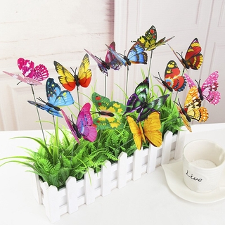 [Have Stock] 3D Simulation Plunger Butterfly, Garden Colorful Whimsical Butterfly Outdoor Flower Pot Home Decoration