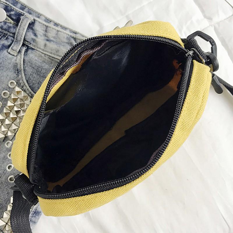 Túi canvas đeo chéo thêu họa tiết thời trang dành cho cả nam và nữ