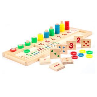 Bộ tập đếm tập đọc số tập tính toán trí tuệ bằng gỗ_Đồ chơi gỗSmartKids