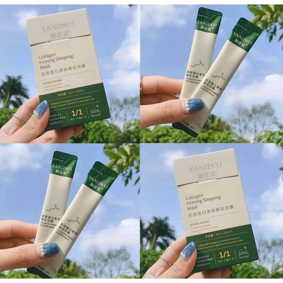 🌈🌺🍓 Hộp 20 Gói Mặt Nạ Ngủ Dạng Thạch Collagen Tươi Firming Sleeping Mask Chiết Xuất Tự Nhiên An Toàn Cho Da - Y158