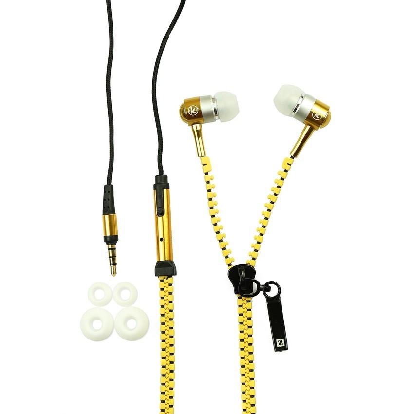 Tai nghe nhét tai Zipper dây kéo (nhiều màu)